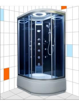 Aqualife Brill D1202 fekete hidromasszázs zuhanykabin balos