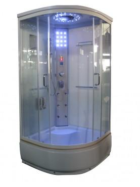 Aqualife Brill 8810A fehér hidromasszázs zuhanykabin 100x100x215 cm