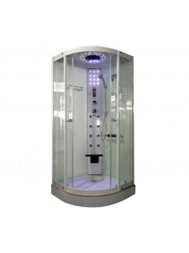 Aqualife Brill 8081 fehér hidromasszázs zuhanykabin 90x90x210 cm