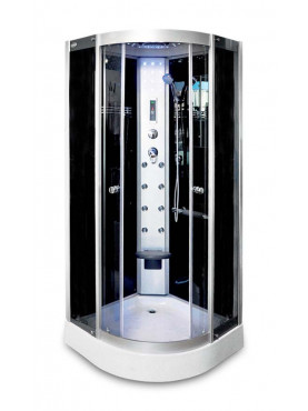 Aqualife Brill 8081 fekete hidromasszázs zuhanykabin 100x100x210 cm