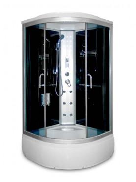 Aqualife Brill 8810A fekete hidromasszázs zuhanykabin 100x100x215 cm