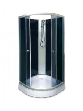 Aqualife Opal 508 C Fekete zuhanykabin 80x80x205 cm Tető nélkül