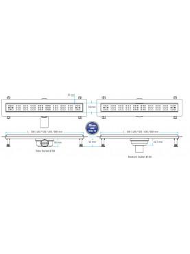 Valtemo Premium Line padlóösszefolyó (Fém alaptesttel) 80 cm C31 VLD-560530